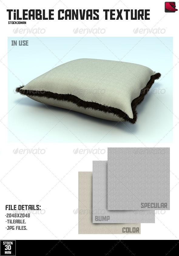 Tileable Canvas Texture - 3DOcean Item for Sale