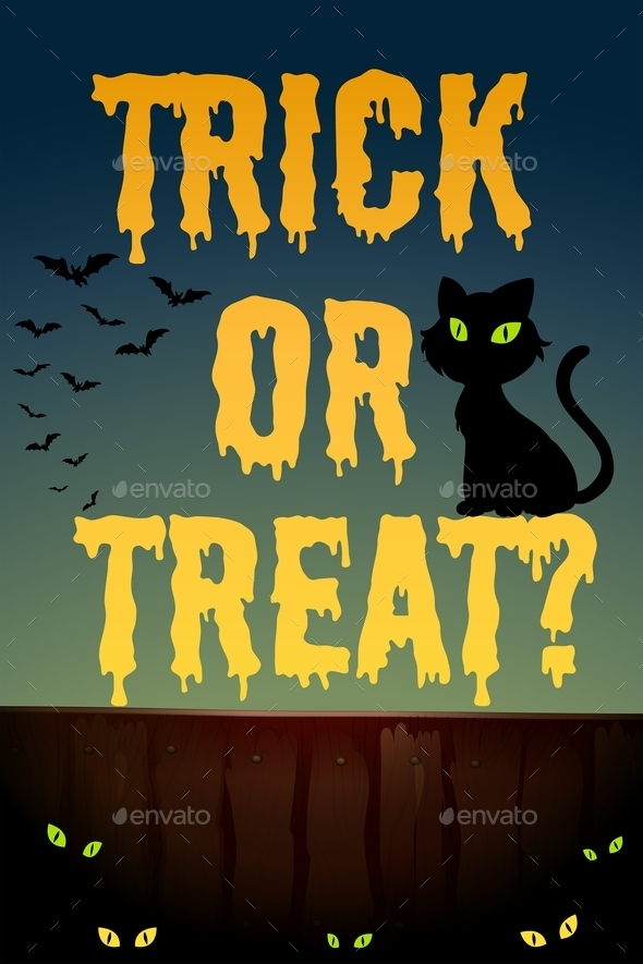 Halloween Theme with Black Cat - Halloween Seasons/Holidays