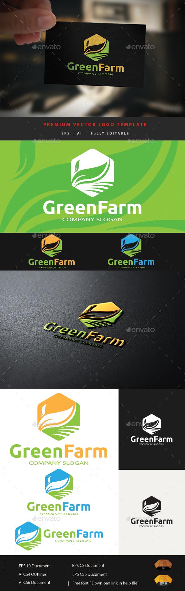 Green Farm - Nature Logo Templates