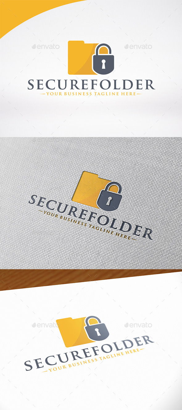 Secure Folder Logo Template - Symbols Logo Templates