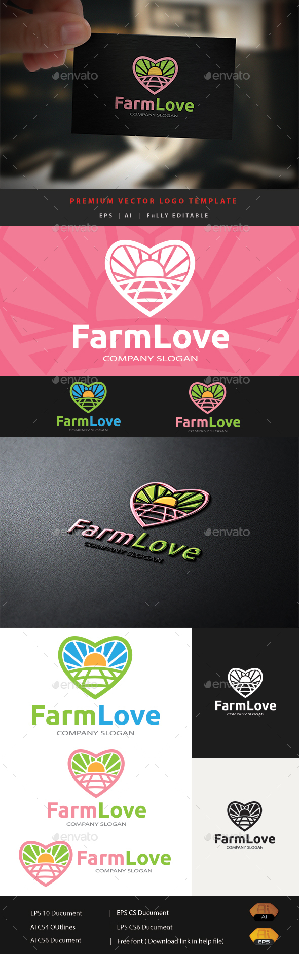 Farm Love - Nature Logo Templates