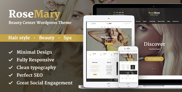 RoseMary - Beauty and Spa Creative WordPress Theme