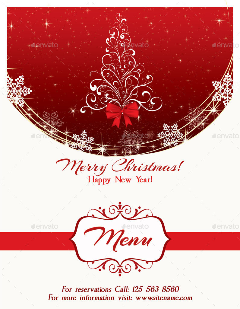 christmas menu template by oloreon graphicriver. Black Bedroom Furniture Sets. Home Design Ideas