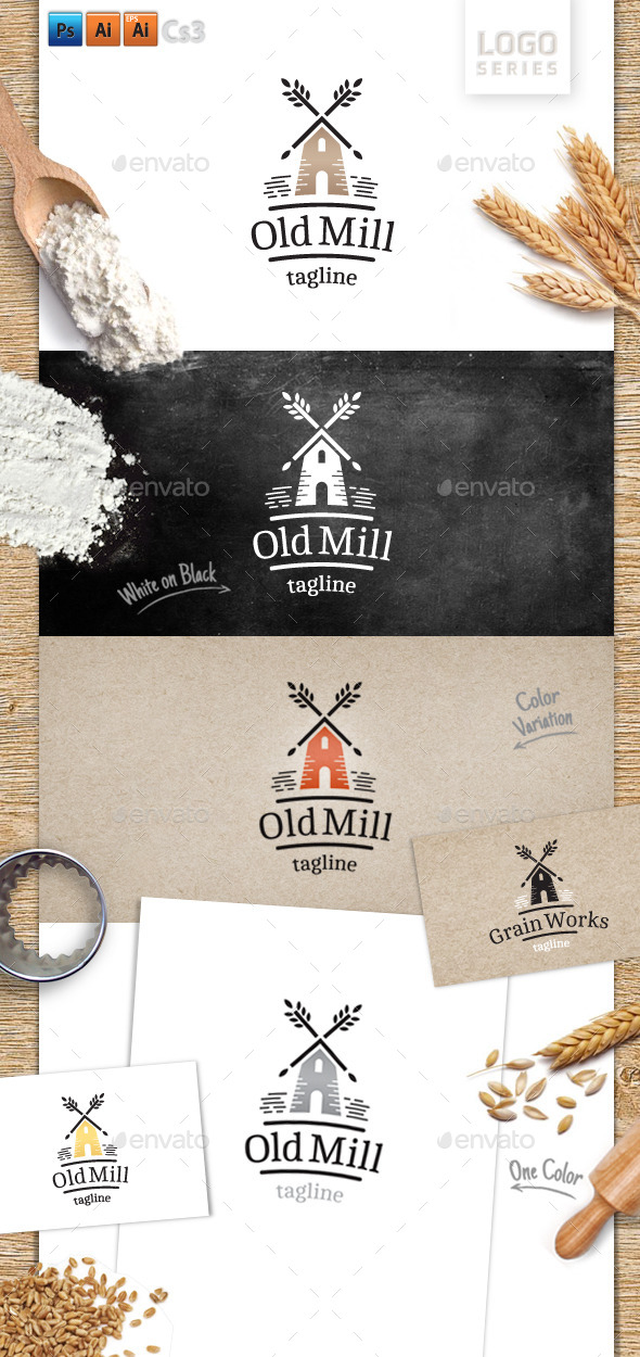 Old Mill - Objects Logo Templates