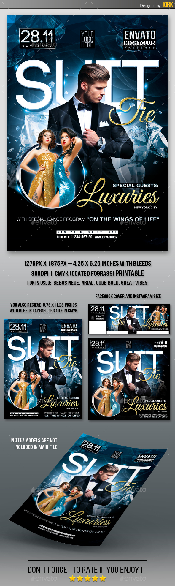 Suit and Tie Party with Special Guest Flyer - Clubs & Parties Events