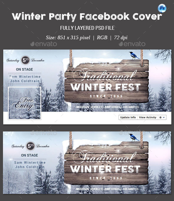Winter Party Facebook Cover - Facebook Timeline Covers Social Media