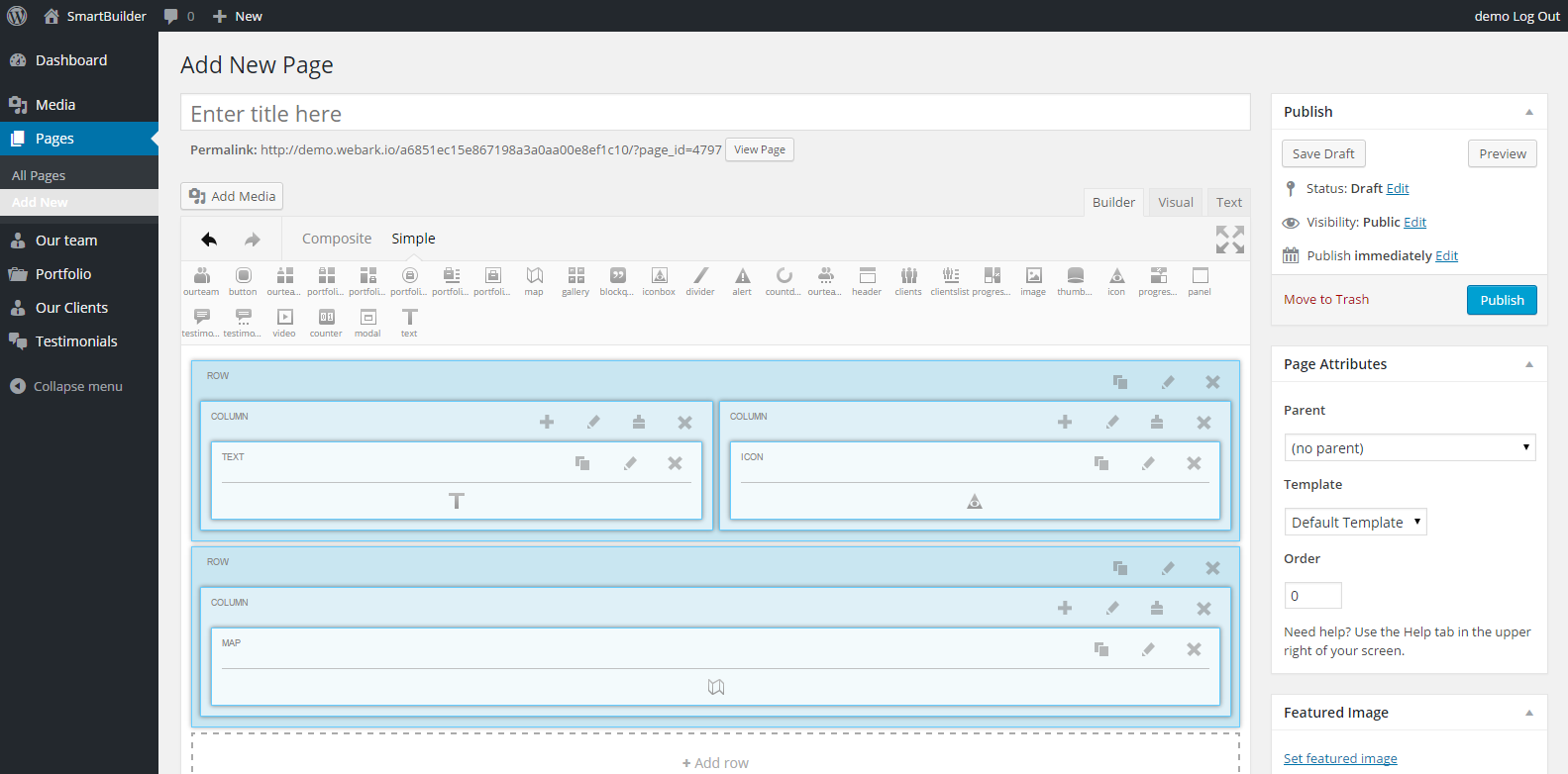 Лендинг page builder wordpress
