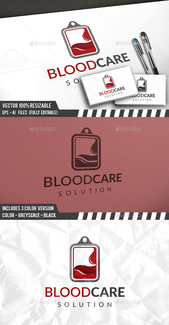 Blood Solution Logo - Objects Logo Templates