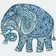 Vector Blue Decorated Indian Elephant - GraphicRiver Item for Sale