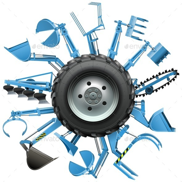 Vector Multi Tractor Wheel - Industries Business