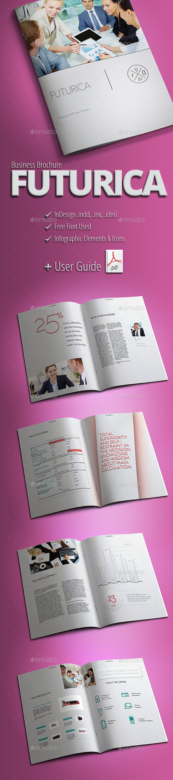 FUTURICA - Modern Business Brochure - Brochures Print Templates