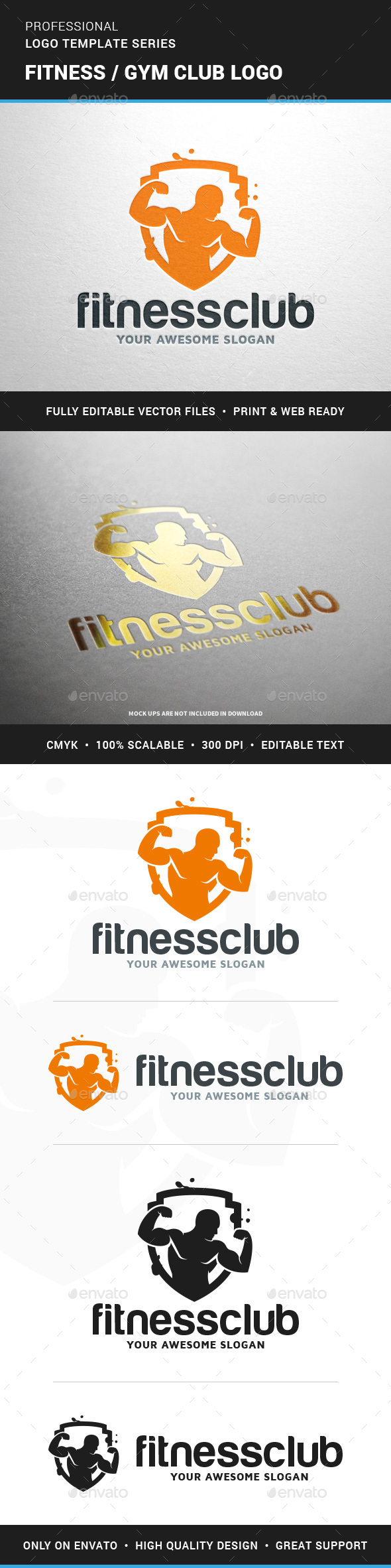 Fitness / Gym Club Logo - Humans Logo Templates