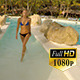 Cute Woman Swim in Pool - VideoHive Item for Sale