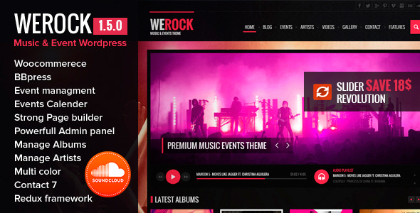 Image of WeRock Multipurpose Music & Event WordPress Theme