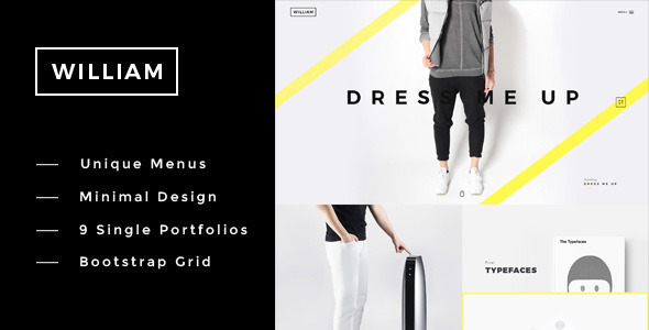 William – Creative Multi-Purpose Portfolio Theme