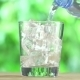 Water Bottle And Glass Of Ice Cubes  - VideoHive Item for Sale