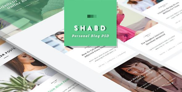 Shabd - Personal Blog PSD Template - Miscellaneous PSD Templates