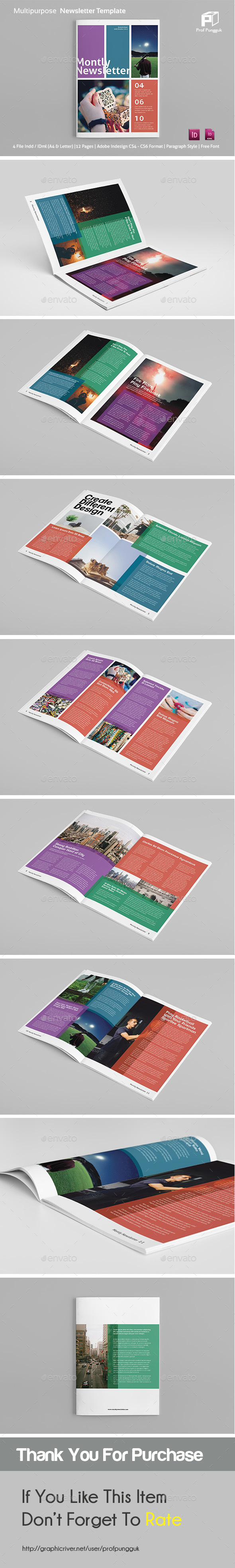 Modern Colorful Newsletter Vol.2 - Newsletters Print Templates