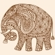 Vector Henna Mehndi Decorated Indian Elephant - GraphicRiver Item for Sale