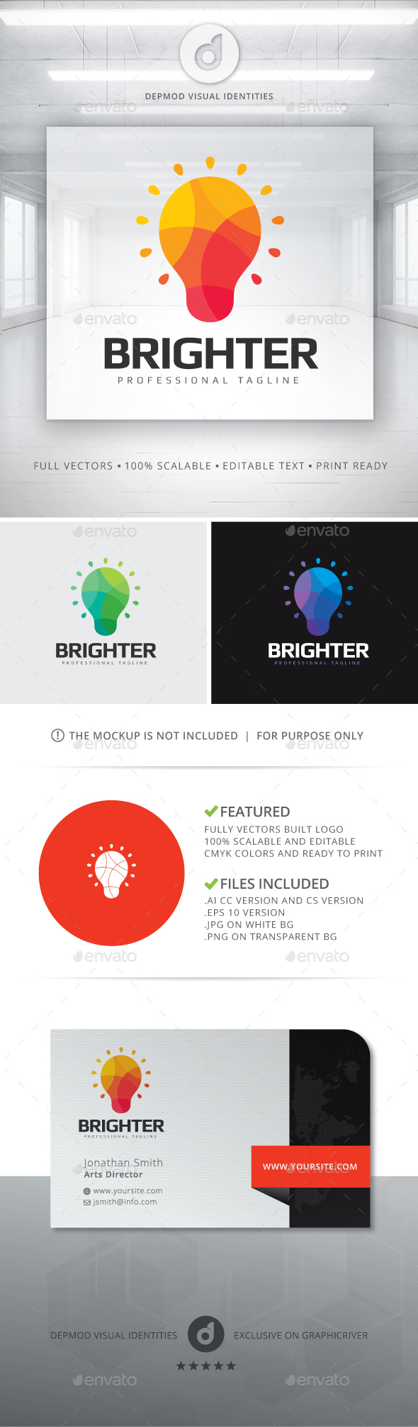Brighter Logo - Objects Logo Templates