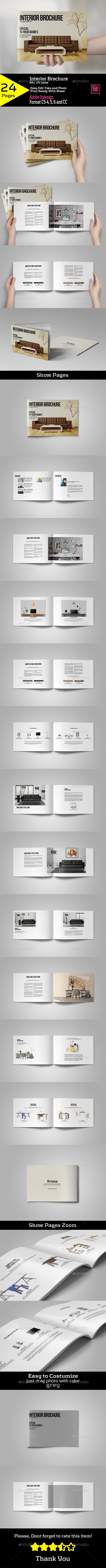 Interior Brochure A4/US Letter - Brochures Print Templates
