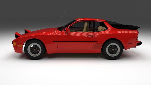 Early Porsche 944  with interior - 3DOcean Item for Sale