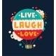 Live Laugh Love Quotation Lettering - GraphicRiver Item for Sale