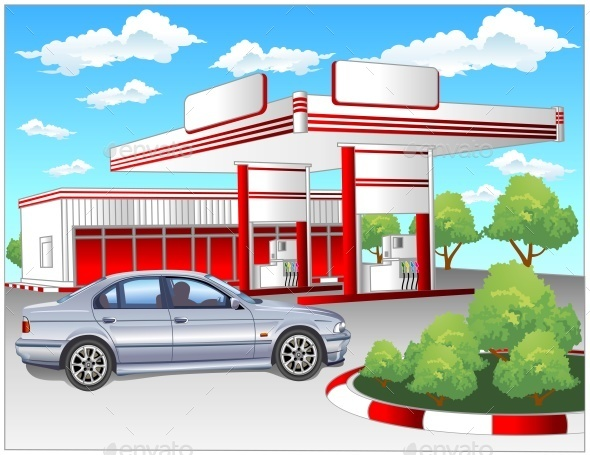 Red Refuel Station, BMW - Miscellaneous Vectors