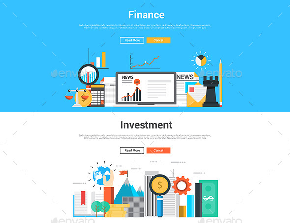 Flat Design Graphic Image Concept - Concepts Business