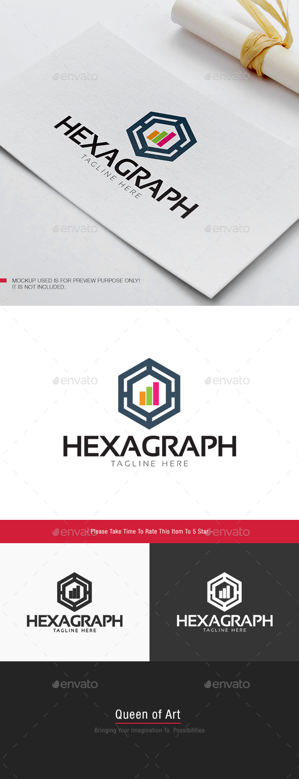 Hexa Graph Logo - Objects Logo Templates