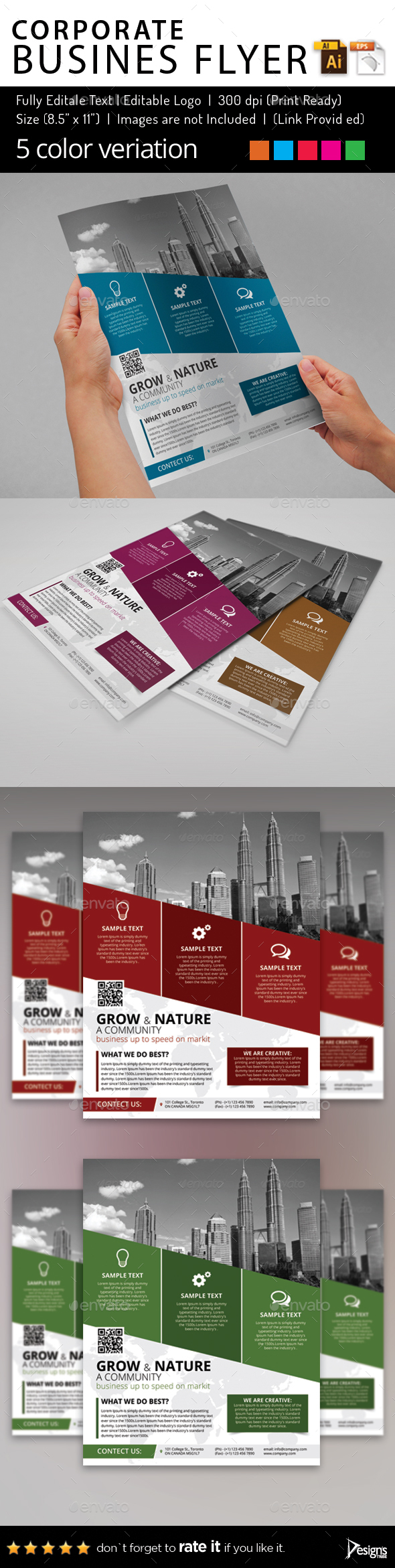 Multipurpose Business Flyer 80 - Flyers Print Templates