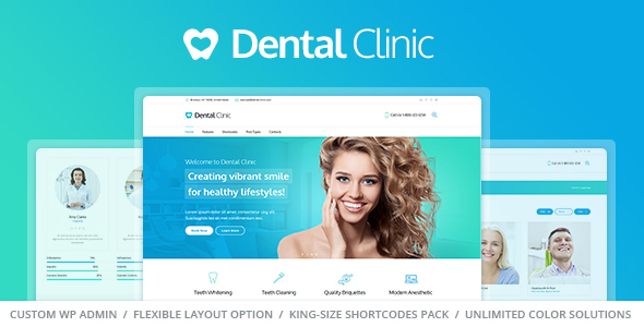 Medical & Dentist WordPress Theme – Dental Clinic