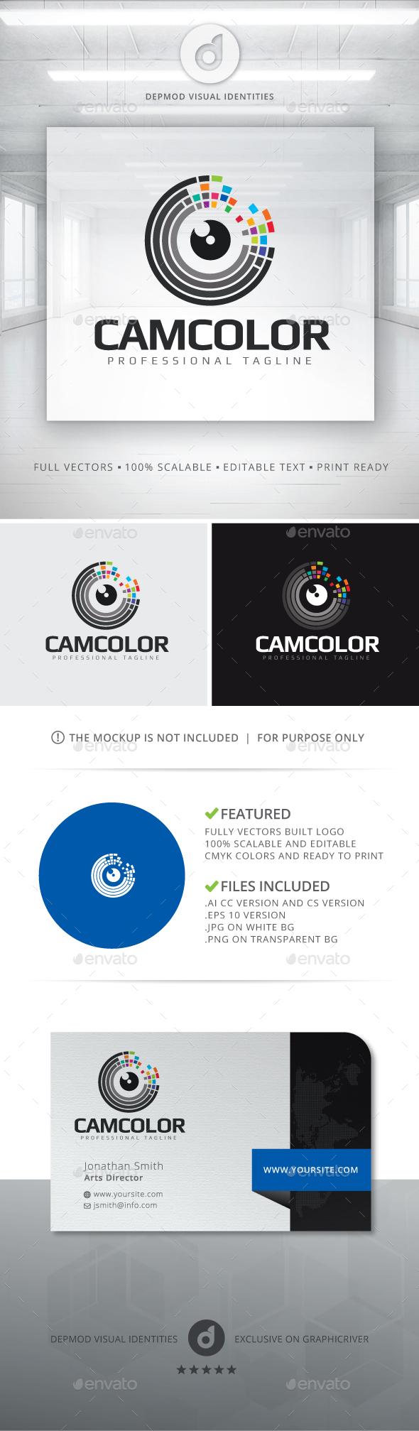 CamColor Logo - Abstract Logo Templates