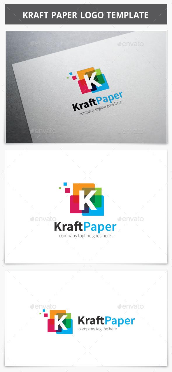 Kraft Paper Logo - Letters Logo Templates