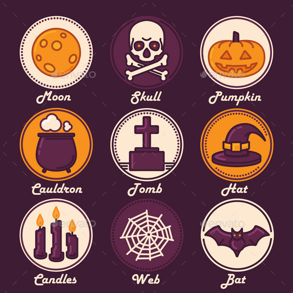 Halloween Icon Set - Halloween Seasons/Holidays