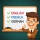 Foreign Languages Teacher In Front - GraphicRiver Item for Sale