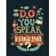 Do You Speak English Lettering Illustration - GraphicRiver Item for Sale