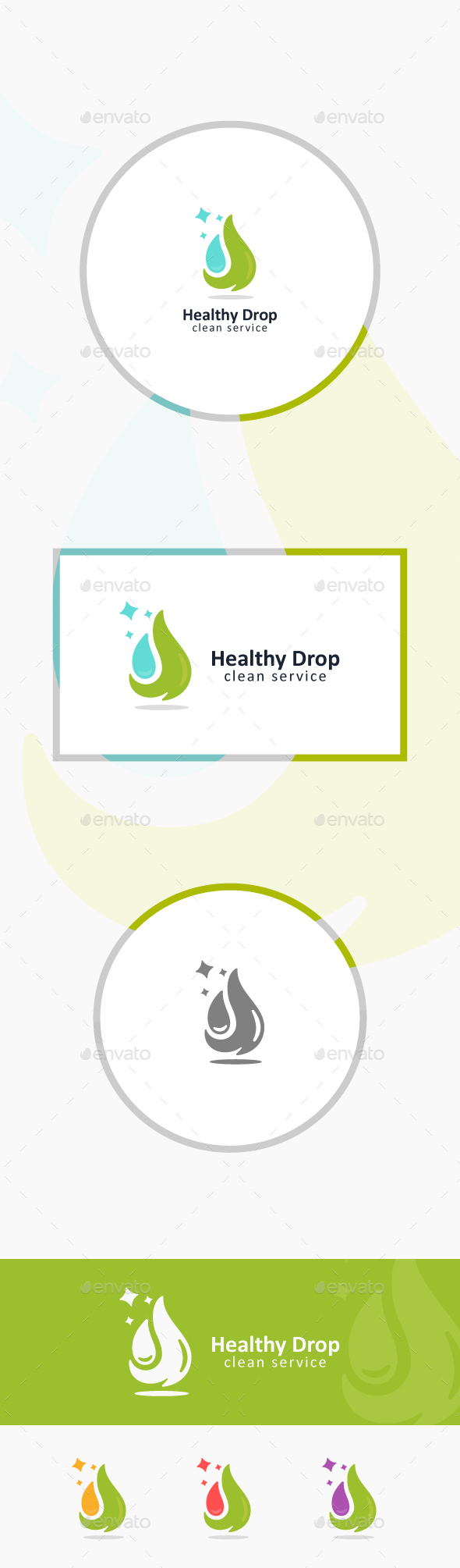 Green Drop - Nature Logo Templates