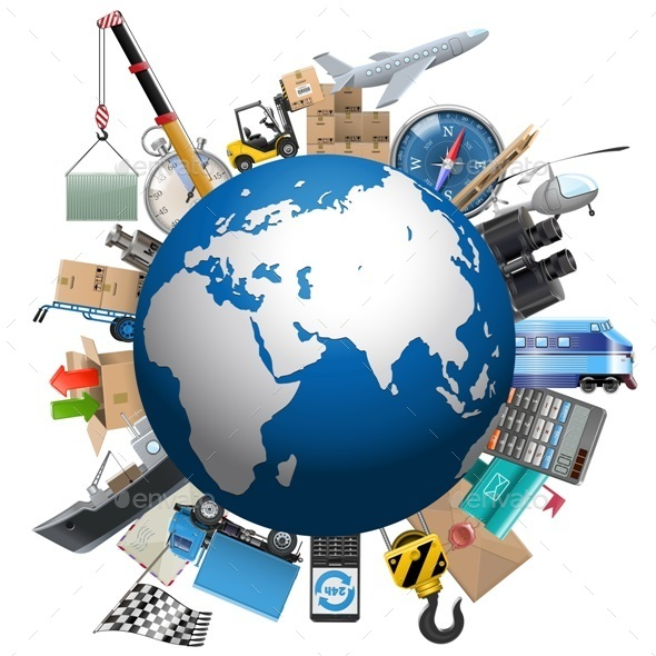 Vector Shipment Planet - Services Commercial / Shopping