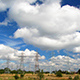 Power Line And Clouds - VideoHive Item for Sale