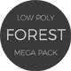 Low Poly Forest Mega Pack - 3DOcean Item for Sale