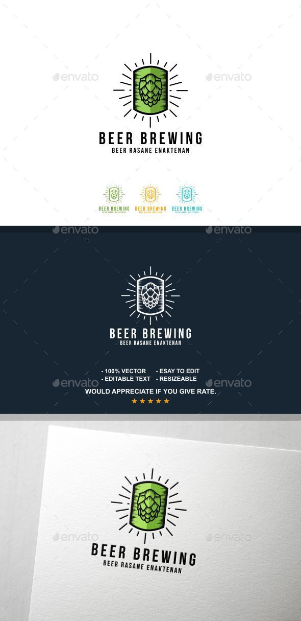 Beer Brewing - Letters Logo Templates