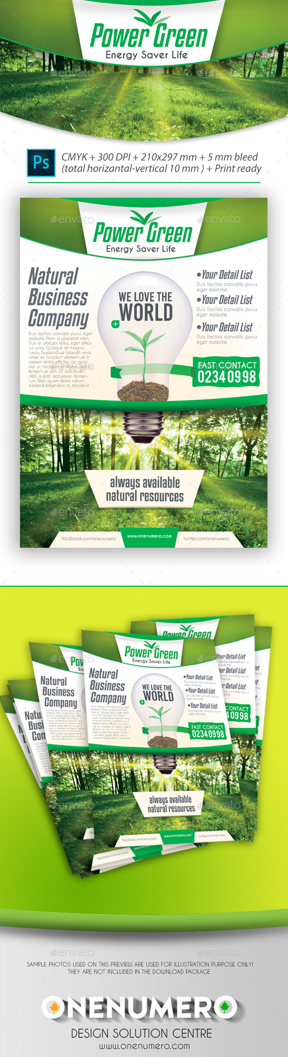 Power Green Energy Flyer Template - Corporate Flyers