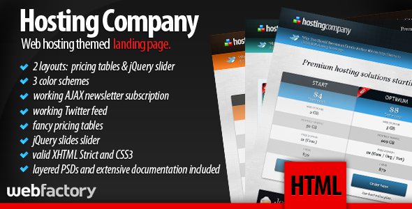 Free Download Hosting Company Landing Page Nulled Latest Version