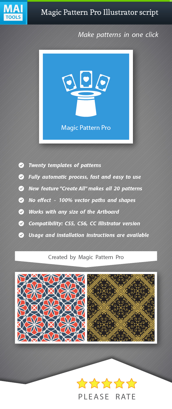 Magic Pattern Pro Illustrator script - Illustrator Add-ons