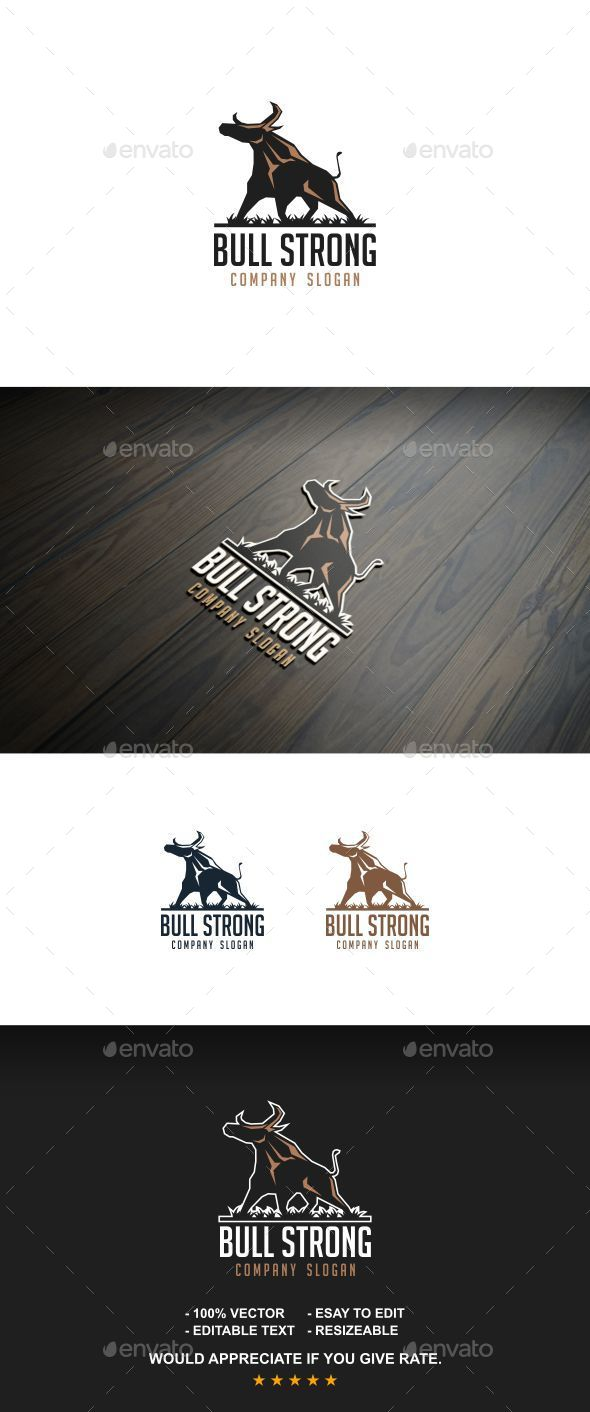 Bull Strong - Letters Logo Templates