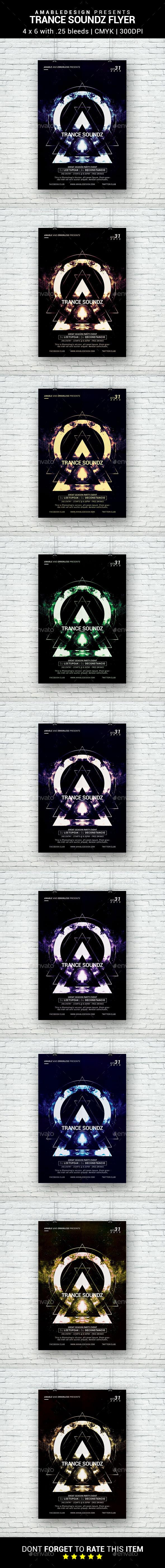 Trance Soundz Flyer - Clubs & Parties Events