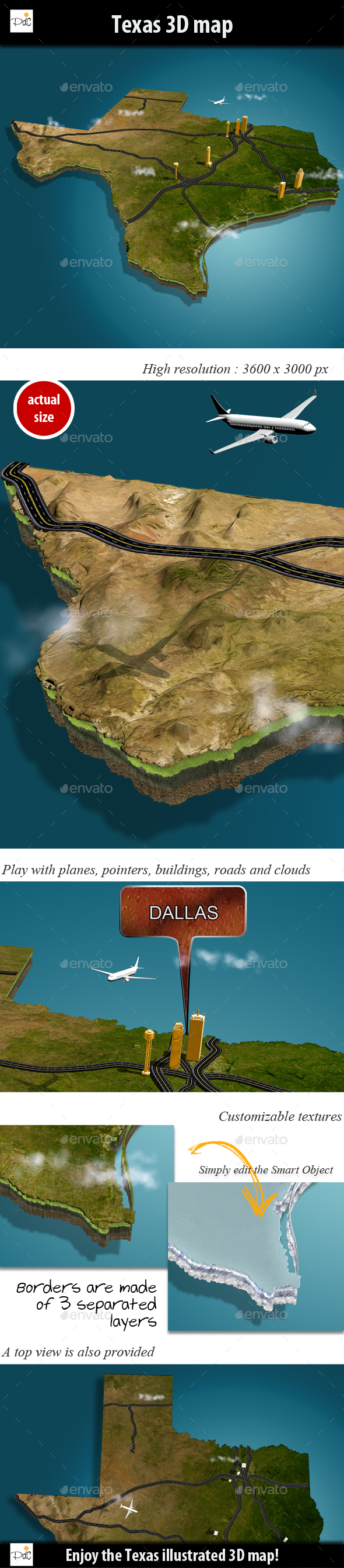 Texas 3D map - Miscellaneous 3D Renders
