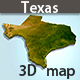 Texas 3D map - GraphicRiver Item for Sale