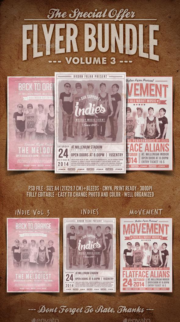 Flyer Bundle Vol.3 - Concerts Events